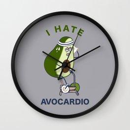 I Hate Avo cardio Wall Clock
