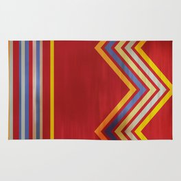 Stripes and Chevrons Ethic Pattern Rug