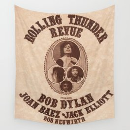 Vintage 1975 Bob Dylan and Rolling Thunder Review Flyer - Poster Providence Concert Wall Tapestry