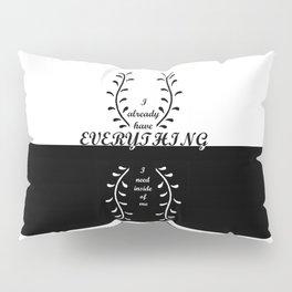 HOME DECOR,SelfAffirmation,BlackandWhite,Pillows, Pillow Sham