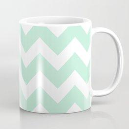 Chevron Mint Green & White Coffee Mug