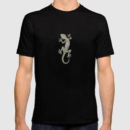 green leaf gecko silhouette T-shirt