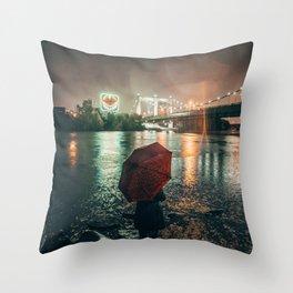 Minneapolis Minnesota Mississippi River Throw Pillow