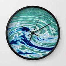 OCEAN ABSTRACT 2 Wall Clock