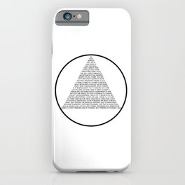 Alcoholics Anonymous Symbol in Slogans iPhone Case