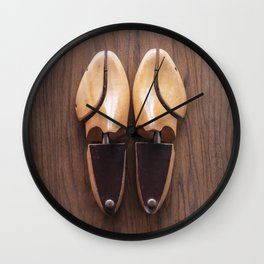 Two Shoe Trees Wall Clock
