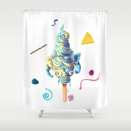 Angry Dog Summer Flavour Shower Curtain