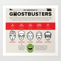 ghost busters Art Prints featuring 30th Anniversary Ghost Busters by LUNCHMONEY973