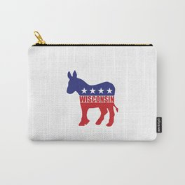 Wisconsin Democrat Donkey Carry-All Pouch