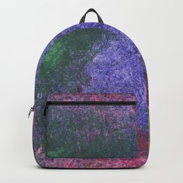 Abstract painting of sponged colorful spots Backpack