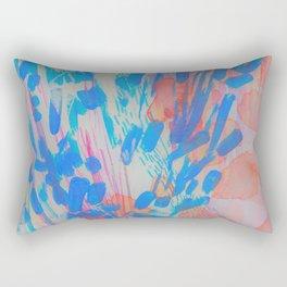 Blue Petal Surge Rectangular Pillow