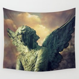 The Angel of Pere Lachaise Wall Tapestry