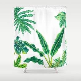 Tropical House Plants Shower Curtain