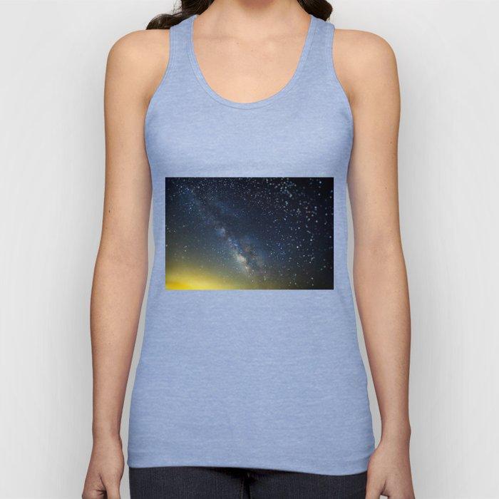 Milky Way bokeh Unisex Tank Top
