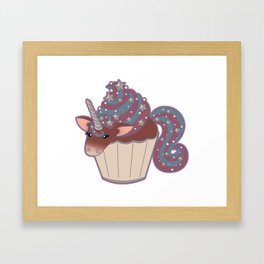 Cupcake Unicorn! Framed Art Print