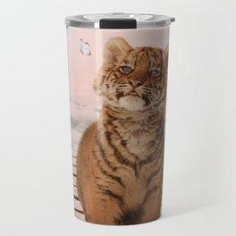 A tiger on the Rainbow Bridge Travel Mug