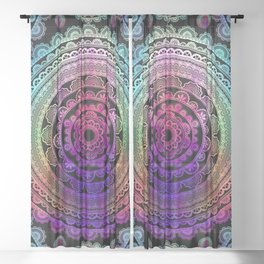 Zen Mantra Mandala Sheer Curtain