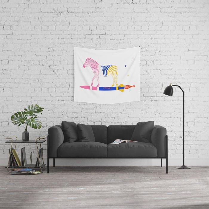 Zebra Rock It 15A Wall Tapestry