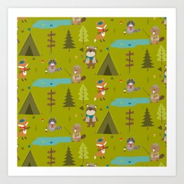 Amazing Camping Design Art Print