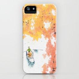 Autumn Drifting iPhone Case