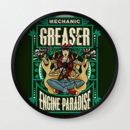 Mechanic Greaser Wall Clock