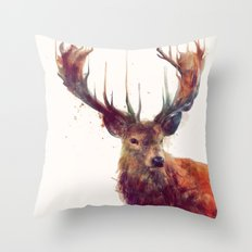 Red Deer // Stag Throw Pillow