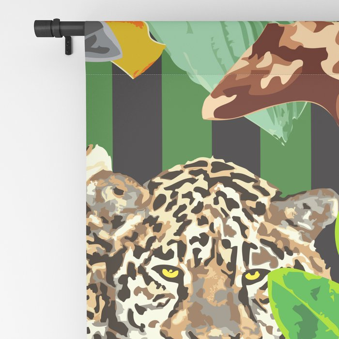 Wild Animals Jungle Pattern Blackout Curtain