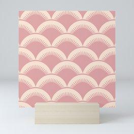 Japanese Fan Pattern Dusty Rose 2 Mini Art Print