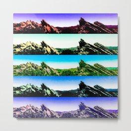 Vasquez Rocks Collage Metal Print