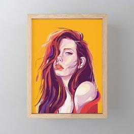 Chase Your Mango Peach Dream Framed Mini Art Print