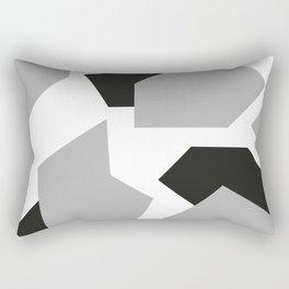 Grey Camo Rectangular Pillow