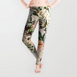 Floral bohemian pattern Leggings