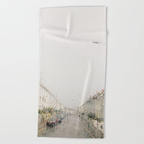Rainy Sunday Beach Towel