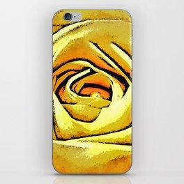 Golden Rose Flower iPhone Skin