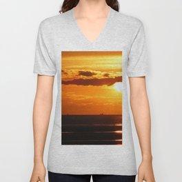 Sunset in the Bay Unisex V-Neck