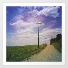 Summer Roadtrip Art Print