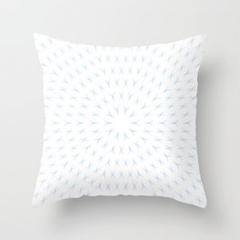 PCT2 Fractal in Ice Blue on White Throw Pillow