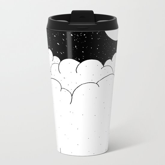 The moon and the clouds Metal Travel Mug