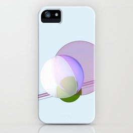 Intersecting Circles I iPhone Case