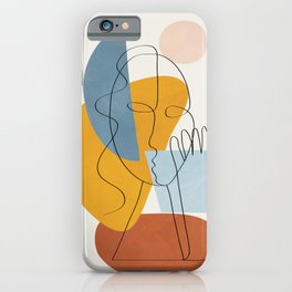 Abstract Colorful Faces II iPhone Case