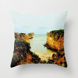 Shipwreck Coast Throw Pillow