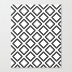 Geometric Squares Diamond Pattern Canvas Print