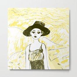 Woman on the beach 10 Metal Print