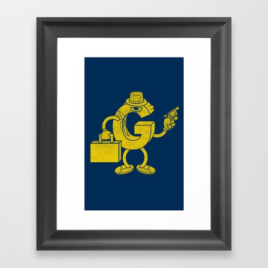 G-Man Framed Art Print