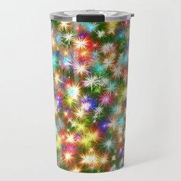 Star colorful christmas abstract Travel Mug