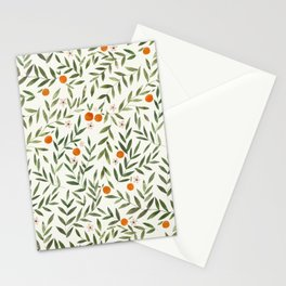 Oranges Foliage Stationery Cards