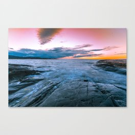 Arctic sunset Canvas Print
