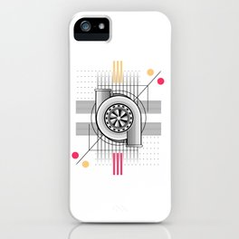 Turbo engine iPhone Case
