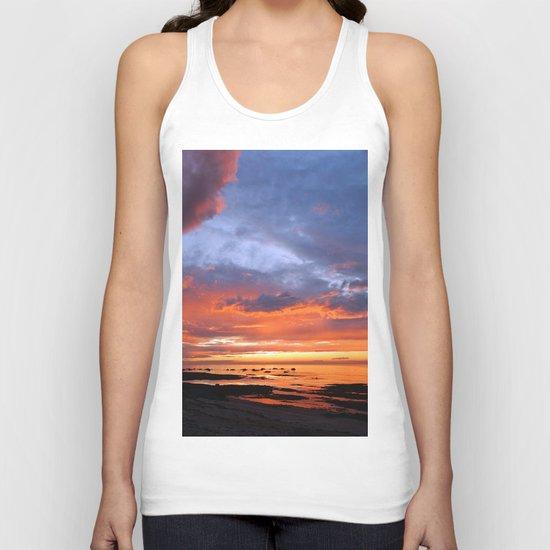 Stunning Seaside Sunset Unisex Tank Top