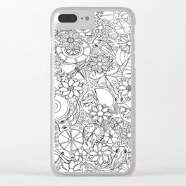 Koi Pond Coloring Page Clear iPhone Case